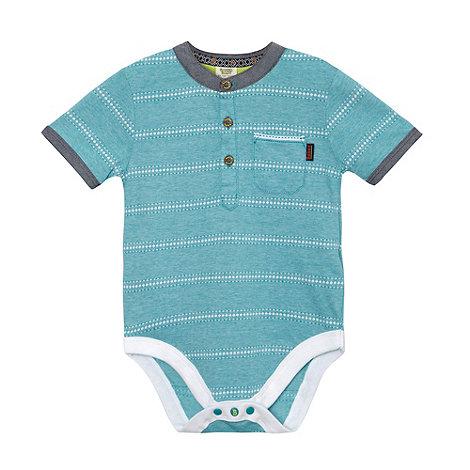 Baker by Ted Baker - Babies green fine striped bodysuit