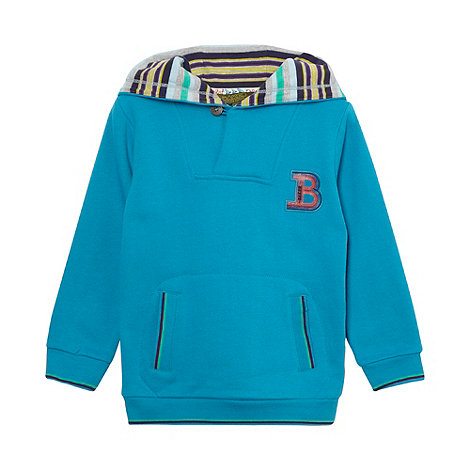 Baker by Ted Baker - Boy+s blue button hoodie