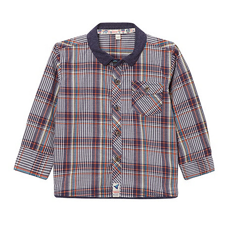 Baker by Ted Baker - Boy+s navy multi checked shirt