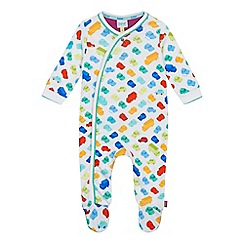 Baker by Ted Baker - Baby boys' multi-coloured vehicle print sleepsuit