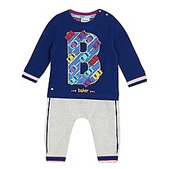 Baker by Ted Baker - Baby boys' multi-coloured sweatshirt and jogging bottoms set