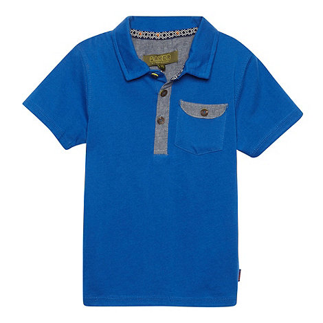 Baker by Ted Baker - Boy+s blue chambray trim polo shirt