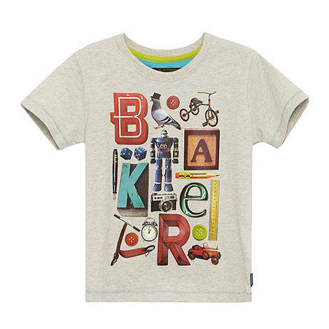 Baker by Ted Baker - Boy+s natural toys logo print t-shirt