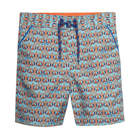 Baker by Ted Baker - Boy+s blue goggle print swim shorts