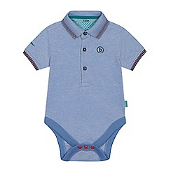 Baker by Ted Baker - Baby boy's blue pique Oxford polo bodysuit