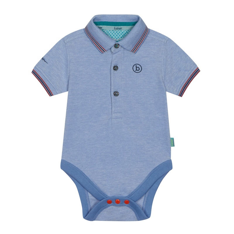 112b13c59 Baker by Ted Baker - Baby Boys  Blue Pique  Oxford  Polo Bodysuit ...