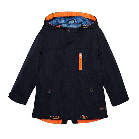 Baker by Ted Baker - Boy's navy zip through parka jacket