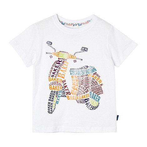 Baker by Ted Baker - White logo scooter print t-shirt