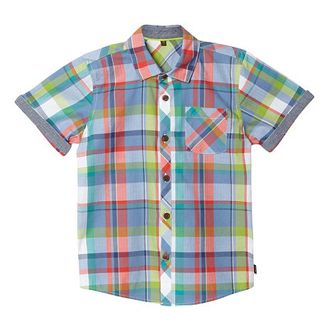 Baker by Ted Baker - Boy+s blue checked shirt