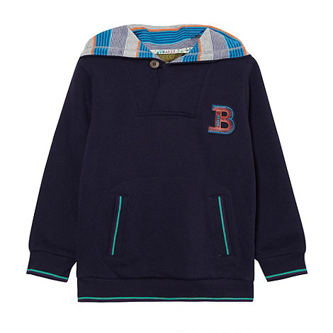 Baker by Ted Baker - Boy+s navy button hoodie
