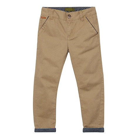 Baker by Ted Baker - Boy+s natural turn up chinos