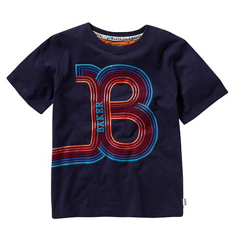 Baker by Ted Baker - Boy+s navy +B+ logo t-shirt