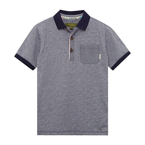 Baker by Ted Baker - Boy+s navy triangle polo shirt