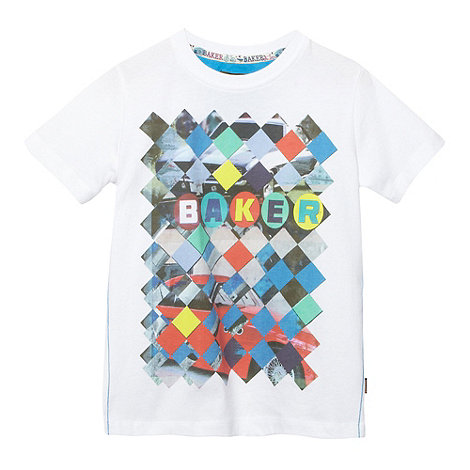 Baker by Ted Baker - Boy+s white graphic print t-shirt