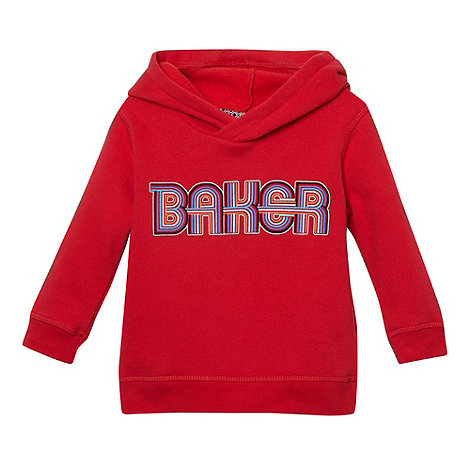Baker by Ted Baker - Boy+s red graphic logo sweat hoodie
