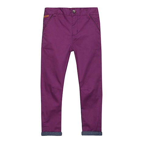 Baker by Ted Baker - Boy+s purple peg chinos
