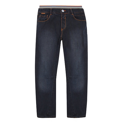 Baker by Ted Baker - Boy+s dark blue herringbone jeans