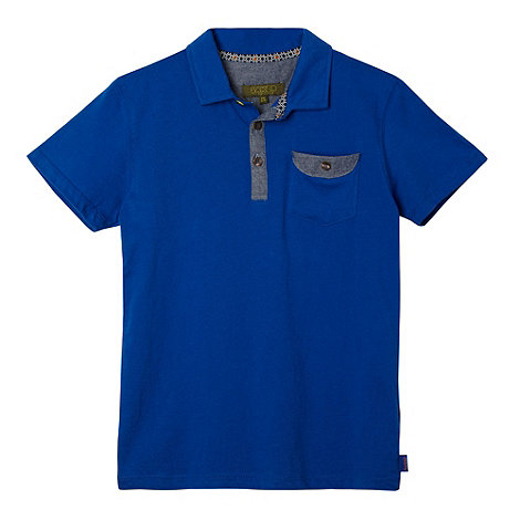 Baker by Ted Baker - Boy+s blue classic polo shirt