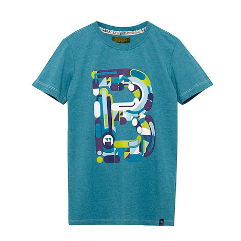 Baker by Ted Baker - Boy+s dark turquoise +B+ logo top