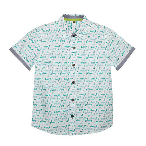 Baker by Ted Baker - Boy+s white scooter shirt