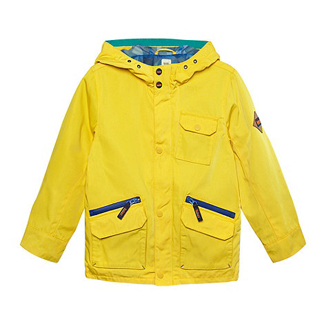 Baker by Ted Baker - Boy+s yellow shower resistant mac coat