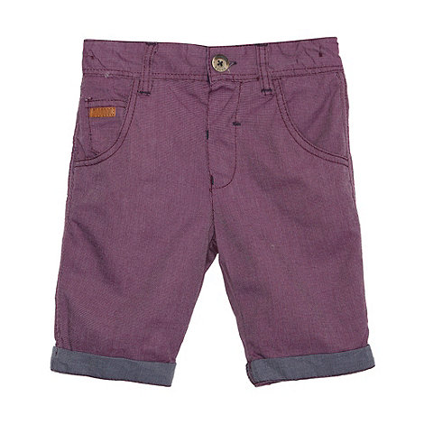 Baker by Ted Baker - Boy+s purple woven shorts