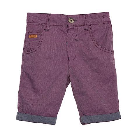 Baker by Ted Baker - Boy+s purple woven shorts