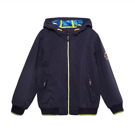 Baker by Ted Baker - Boy+s navy shower resistant hooded jacket