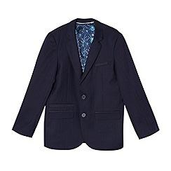 Baker by Ted Baker - Boy's navy herringbone suit jacket