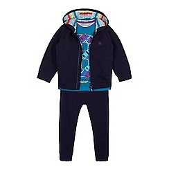 Baker by Ted Baker - Boys' navy traffic jam print hoodie, t-shirt and bottoms set