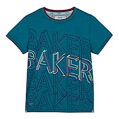 Baker by Ted Baker - Boys' green graduated logo print t-shirt