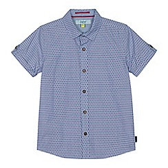 Baker by Ted Baker - Boys' blue geometric dot print shirt