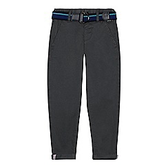 Baker by Ted Baker - Boys' grey belted chinos