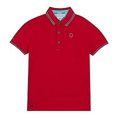 Baker by Ted Baker - Boys' dark pink tipped polo shirt