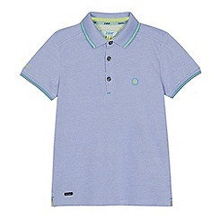 Baker by Ted Baker - Boys' lilac pique Oxford polo shirt