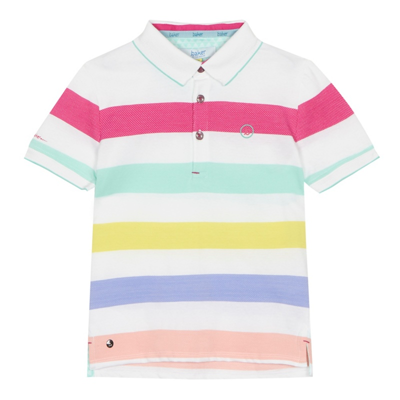 1fb2beeb39706c Baker by Ted Baker -  Boys  Multi-Coloured Striped Polo Shirt ...