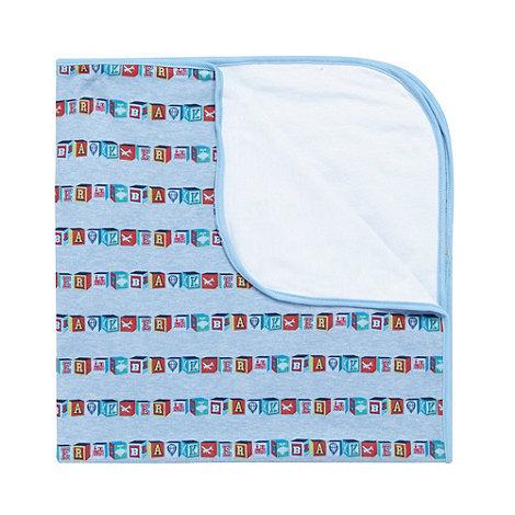 Baker by Ted Baker - Babies blue building blocks printed blanket