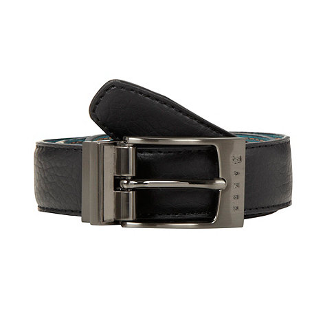 Baker by Ted Baker - Boy+s green and black reversible belt