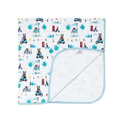 Baker by Ted Baker - Babies white city dog print blanket
