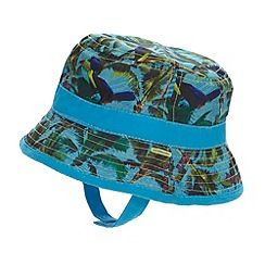 Baker by Ted Baker - Babies blue reversible toucan print fisherman hat