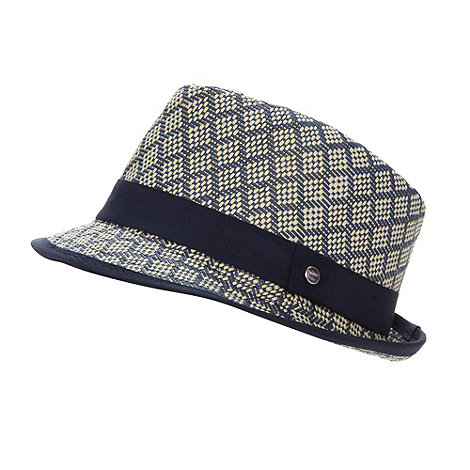 Baker by Ted Baker - Boy+s navy woven trilby hat