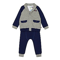 Baker by Ted Baker - Babies grey ribbed cardigan and trousers set
