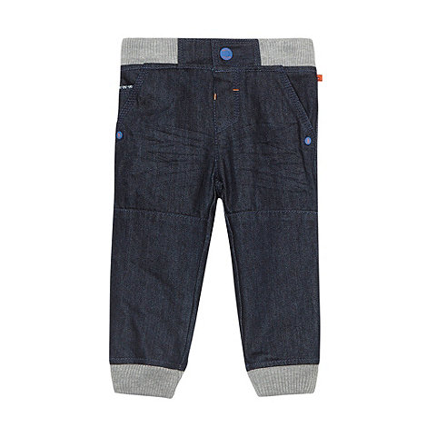 Baker by Ted Baker - Babies dark blue ribbed waist jeans