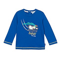 Baker by Ted Baker - Babies  blue penguin printed top