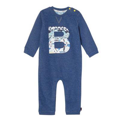 Baker by Ted Baker Babies blue penguin print onesie - . -