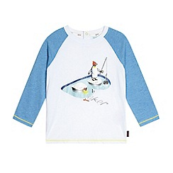 Baker by Ted Baker - Boy's white penguin popper rear top