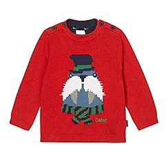 Baker by Ted Baker - Babies  red walrus knit jumper