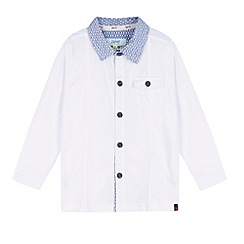 Baker by Ted Baker - Boy's white long sleeved polo shirt
