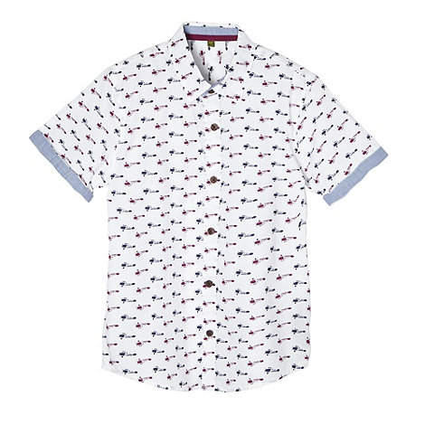 Baker by Ted Baker - Boy+s white biplane printed shirt