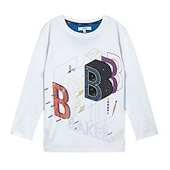 Baker by Ted Baker - Boy's white  deconstructed t-shirt
